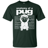 Anatomy of a Pug Funny Tee T-Shirts - Newmeup