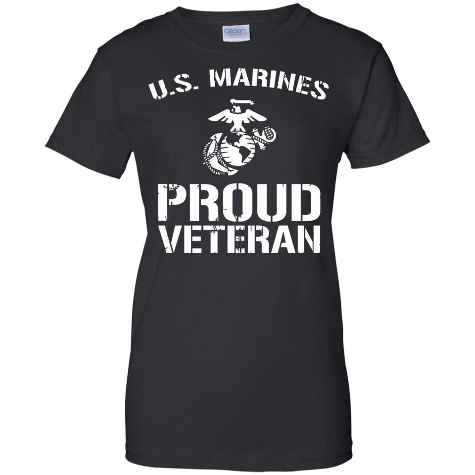 US Marines Proud Veteran T-shirt America US Marines T-shirt - Newmeup