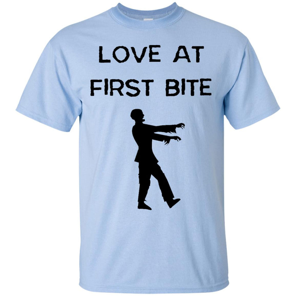 Love At First Bite Zombie Apocalypse Funny T-Shirt