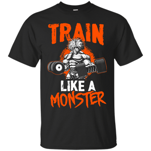 Dragon Ball Z Shirts Men's Train Like a Monster Goku's Gym Shirt