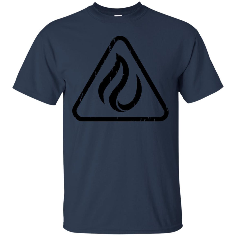 Orange Fire Hazard Distressed Sign TShirt