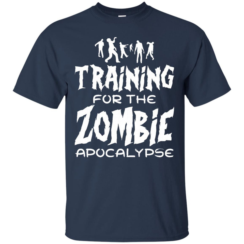 Training For The Zombie Apocalypse Funny Workout T Shirt - Newmeup