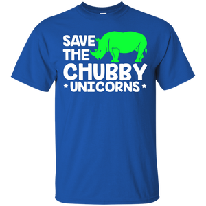 NewmeUp Men's Unicorn Shirts Save the Chubby Unicorns T-Shirt