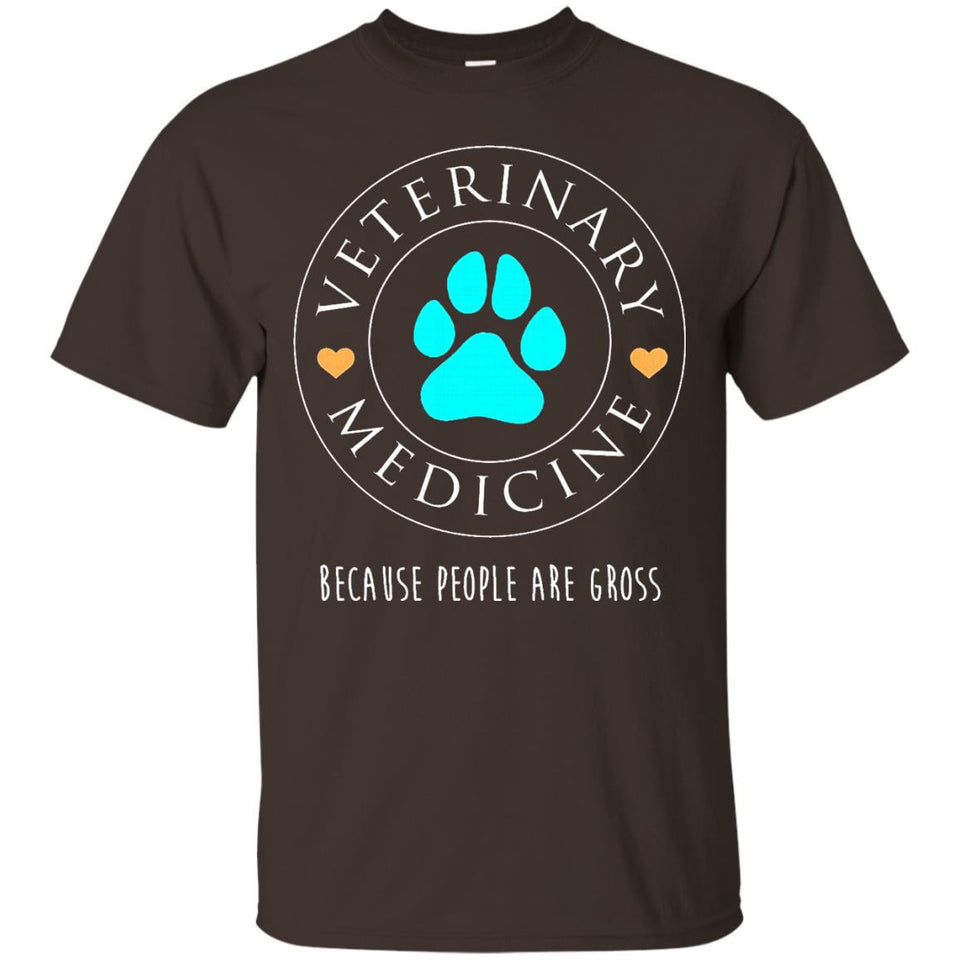 Veterinary Medicine Because People Suck Shirt Funny Vet Gift - Newmeup
