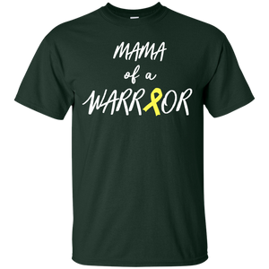 Mama of a Warrior, Childhood Cancer Awareness Shirt, Yellow - Newmeup
