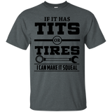 If It Has T-i-t-s Or Tires Mechanic Funny T shirt(Black)