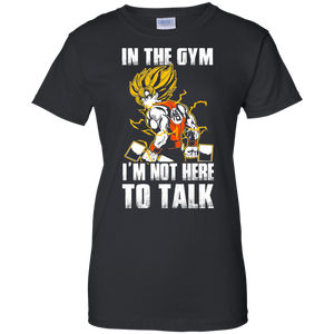 Dragon Ball Z Shirts Women's Goku's Gym Train Insaiyan DBZ Workout Shirts