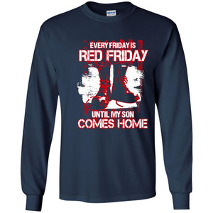 Red Military Shirt - Red Fridays Son Veteran Tee