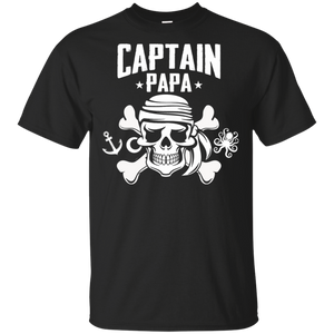 Captain Papa Funny Pirate 100% Cotton T-Shirt