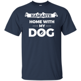 Namaste Home With My Dog Yoga T-shirts