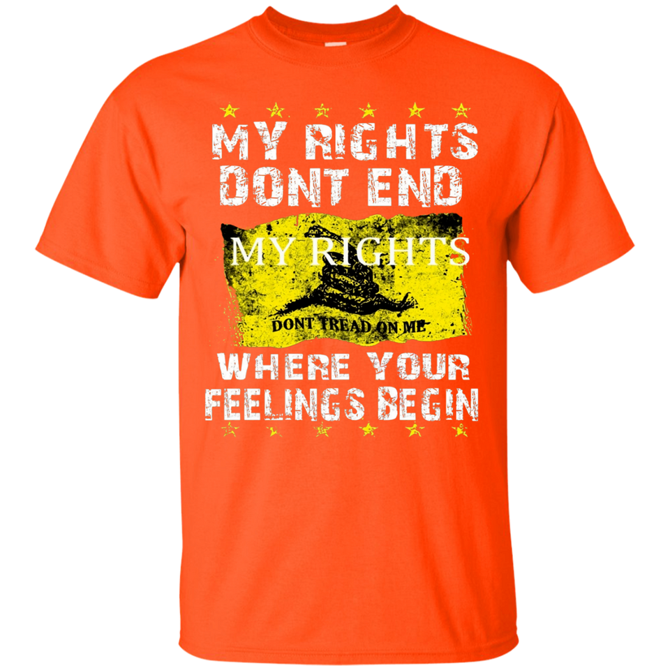 My rights dont end where your feelings begin shirt