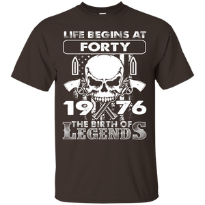 Life Begins At Forty 1976 The Birth Of Legends - Gun TShirt