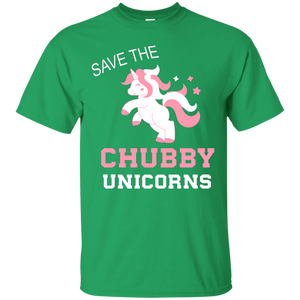 NewmeUp Men's Unicorn Shirts Save The Chubby Unicorn T-shirts