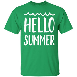 Cute hello summer vacation T-shirt teen girl boy funny gift - Newmeup