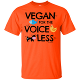 Vegan T-Shirt Voiceless for Vegans and Vegetarians Black - Newmeup