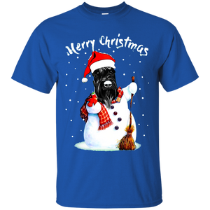 GIANT SCHNAUZER Puppies Ugly Christmas Sweater T-SHIRT