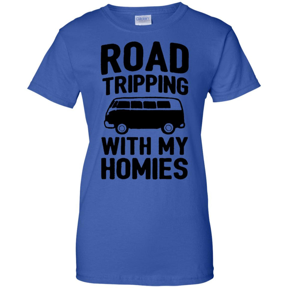 road tripping bus with my homes camping tent moutain t shirt