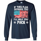 If This Flag Offends You I'll Help You Pack Veteran T-shirt