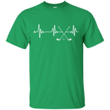 Golf Stick Heartbeat T-Shirt Funny Golfer Love Golfing Gift