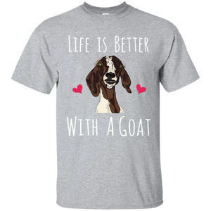 Life Is Better With A Goat T-Shirt - Funny Goat Lovers Tee