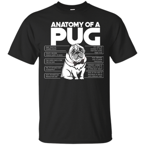 NewmeUp Men's Pug Shirts Anatomy Of A Pug T-Shirts