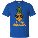 Pineapple Sunglasses Aloha Beaches Hawaii - Hawaiian T-shirt