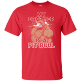 NewmeUp Men's Pit Bull Shirts My Brother Is A Pit Bull Tshirt