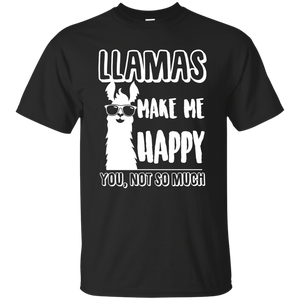NewmeUp Men's Llamas Shirts Llamas Make Me Happy You Not So Much Tshirts