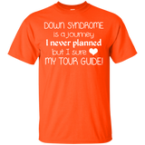 Screened Down Syndrome Is A Journey Love My Tour Guide Tee White - newmeup