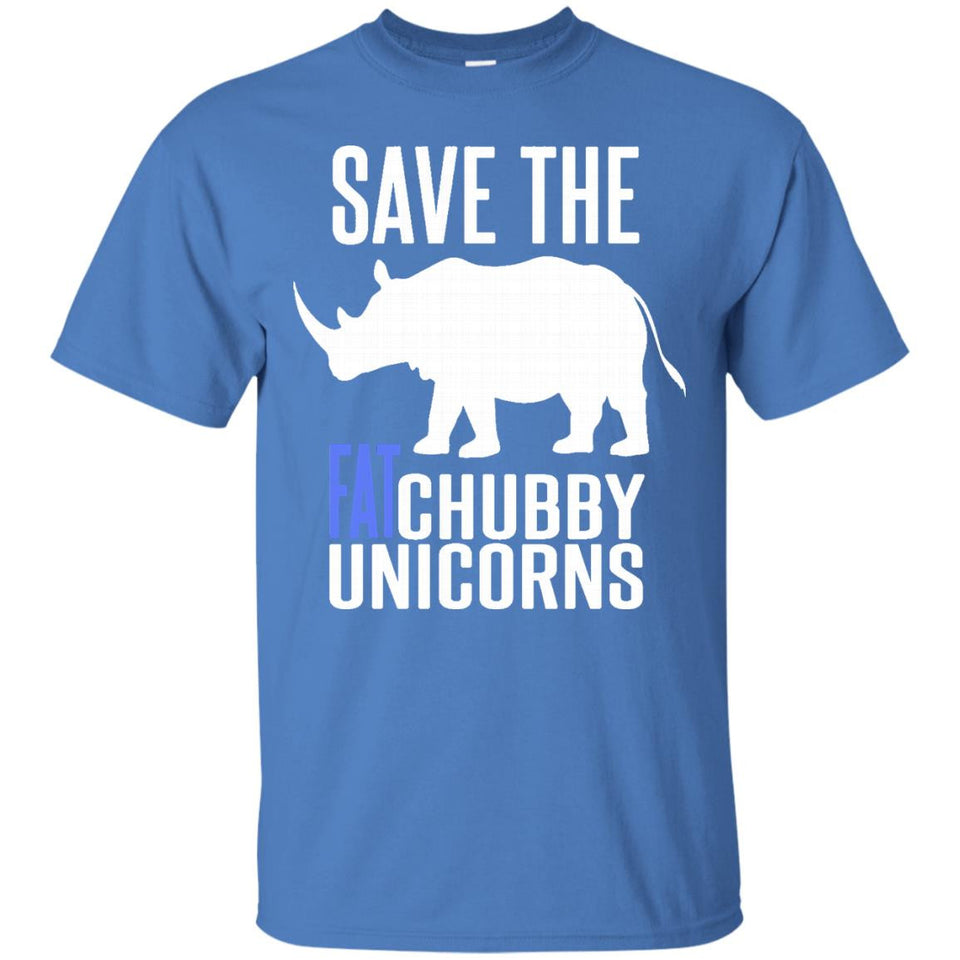 Save The Fat Chubby Unicorns T-shirt - Funny Unicorns Tshirt