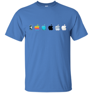 Apple Logo Evolution History T-Shirt - Newmeup