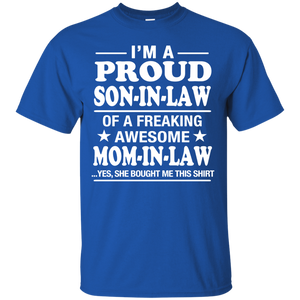 Proud Son In Law Of Awesome Mom In Law T-Shirt