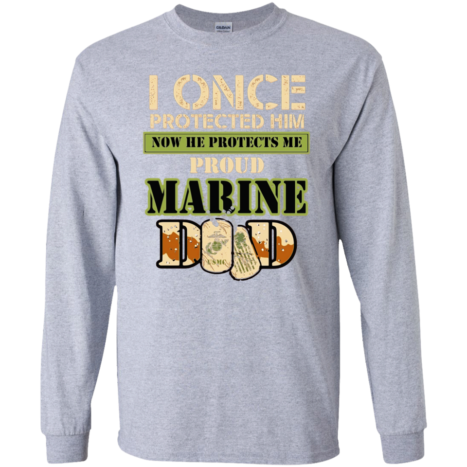 65a322e5 ... Men's Proud Marine Dad of his Military Son SWEATSHIRT - newmeup ...