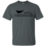 MY CHICKEN ATE YOUR STICK FAMILY T-SHIRT Black