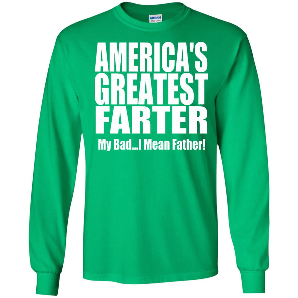 Mens America's Greatest Farter Father T Shirt for Dads