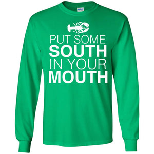 Put Some South In Your Mouth Funny Crawfish Boil Party Shirt