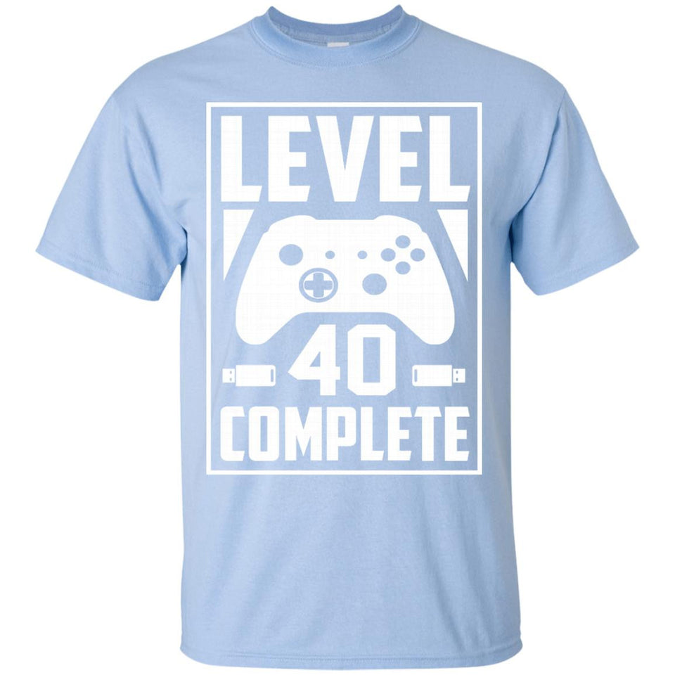 fc5239f1 Level 40 Complete Video Gamer Geek 40th Birthday Gift Shirt – NewMeup