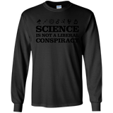 Science T-Shirt Is Not A Liberal Conspiracy Black SWEATSHIRT - newmeup