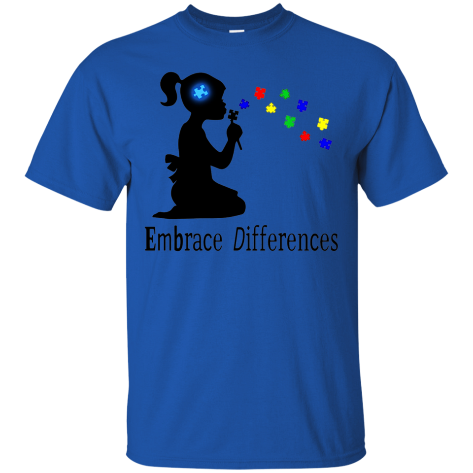 Autism Shirt Embrace Differences T-Shirt for Women and Girls - Newmeup