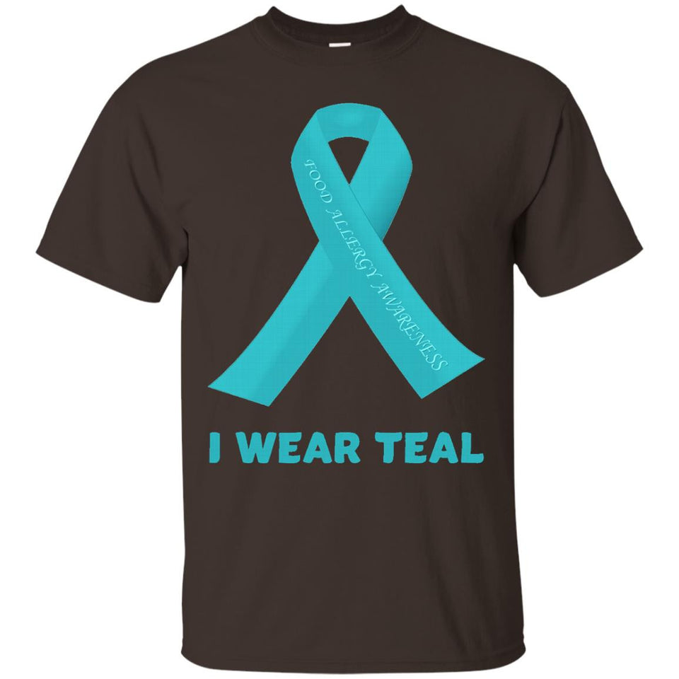 Allergies Awareness T Shirt - I Wear Teal Allergy Awareness - Newmeup