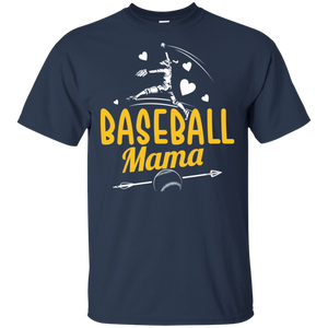 Officially Licensed Fashion Sports Baseball Mama LSU Tigers T-Shirt