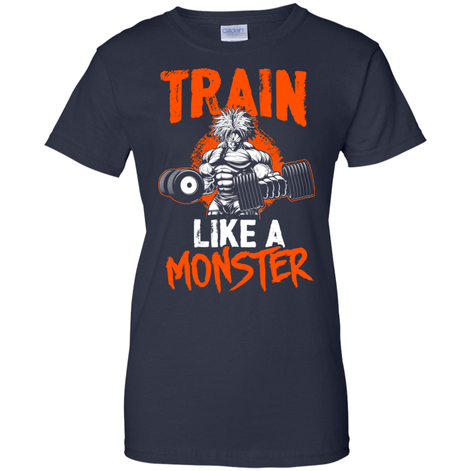 Dragon Ball Z Shirts Women's Train Like a Monster Goku's Gym Shirt