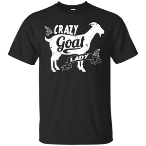 NewmeUp Men's Goat Funny Shirts Crazy Goat Lady T-shirts