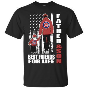 Men's Fathers Day Shirt Father And Son Best Friends For Life Chicago Cubs