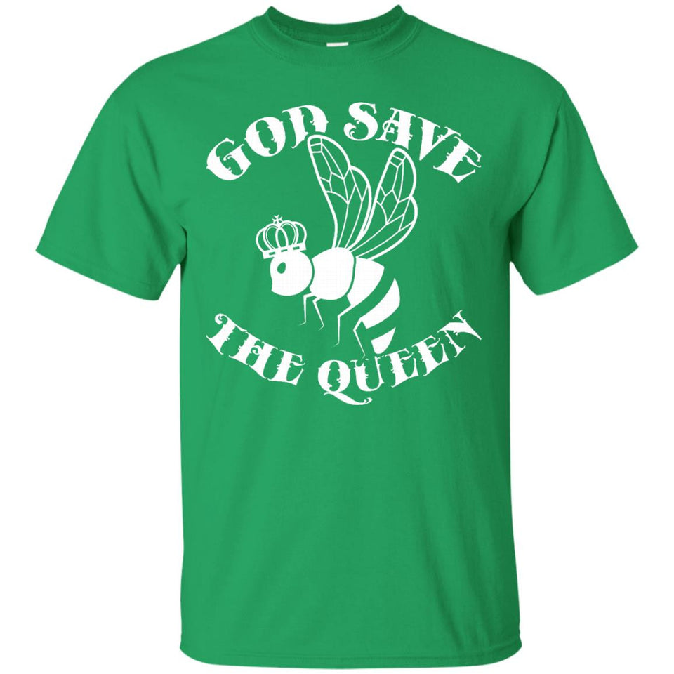 God Save The Queen Bee T-Shirt - Funny Bee Keeper Crown Tee