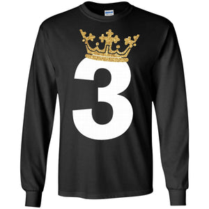 Kids 3rd Birthday Boy Prince Crown T-Shirt