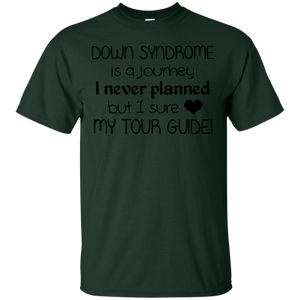 Screened Down Syndrome Is A Journey Love My Tour Guide Tee Black - newmeup