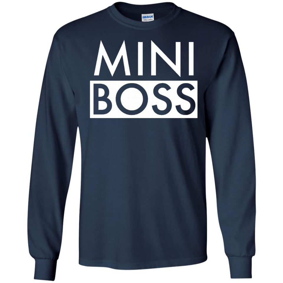 MiniBoss T-Shirt Matching Family Portrait Son Daughter Kid