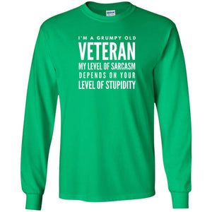 I'm A Grumpy Old Veteran Funny Retired Soldiers Cool T-Shirt