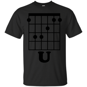 Fun Guitar T-Shirt, F Chord U Funny Guitarist Gift Black - newmeup